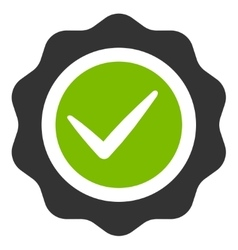 Valid icon from competition  success bicolor icon vector