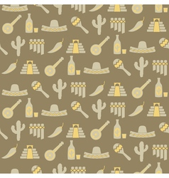 Seamless background with symbols of mexico vector