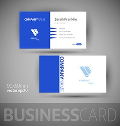 Business card template - vector