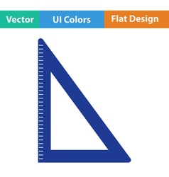Flat design icon of triangle vector
