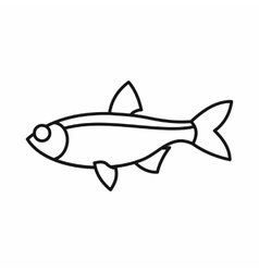Rudd fish icon outline style vector