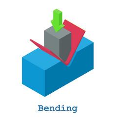 Bending metalwork icon isometric 3d style vector