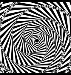 Black and white geometric vector