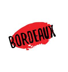 Bordeaux rubber stamp vector