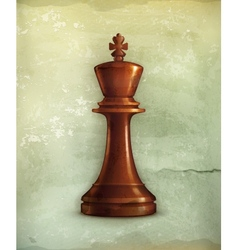 Chess King old-style vector image