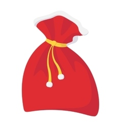 Christmas sack cartoon icon vector