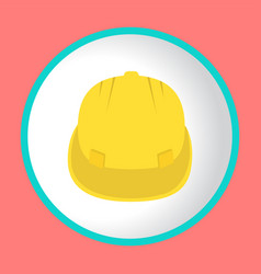 Construction helmet icon design logo vector