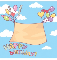 cute birthday card vector image vector image