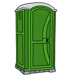 Green mobile toilet vector