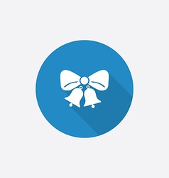 jingle bells Flat Blue Simple Icon with long vector image