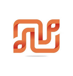 letter infinity alphabet lettering n design vector image