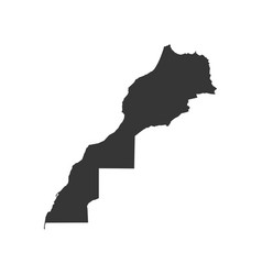 Morocco map silhouette vector
