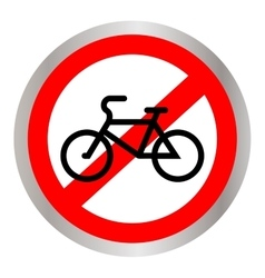 No bicycle bike prohibited symbol Sign vector image vector image