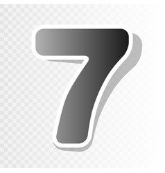 Number 7 sign design template element new vector
