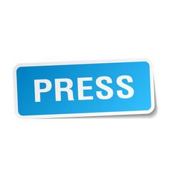 Press square sticker on white vector