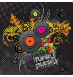 punkie background vector image vector image