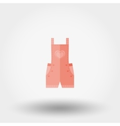 Rompers icon Flat vector image vector image