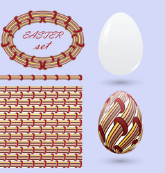 Set with easter eggs and design elements in the vector