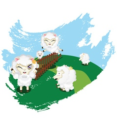 Sheep jumping2 vector