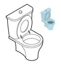 Toilet WC coloring book Bathroom accessories in vector image vector image
