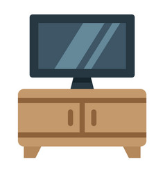 Tv bench flat icon furniture and interior vector