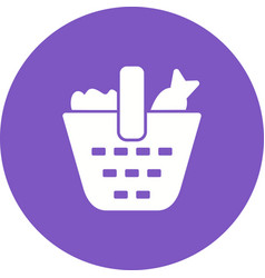 vegetable basket vector image vector image