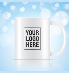 white coffee mug vector image