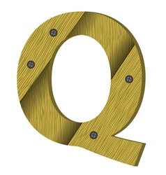 wood letter Q vector image