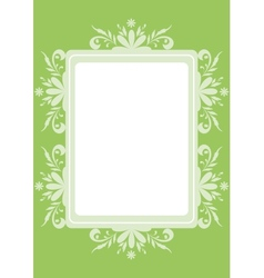 Background flowers and frame vector image