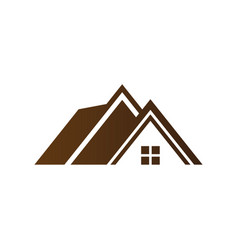 House roof abstract business company logo i vector