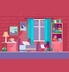 Some kid bedroom of a cartoon vector