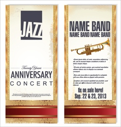 flyer for jazz festival vector image