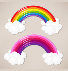 Colorful rainbow set vector