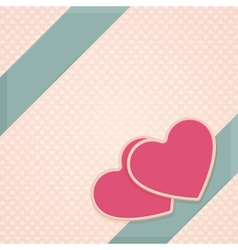 Card Heart Two vector image