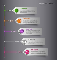 Time line info graphic colored striped template vector