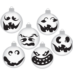 Halloween ghost ornaments vector