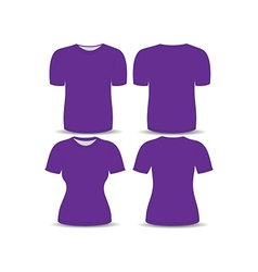 T shirt purple template vector image