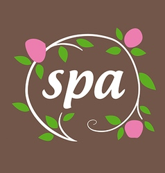 Round logo flowers for spa salon vector