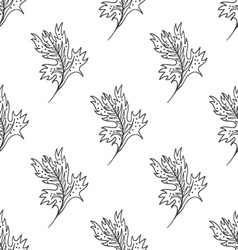 Seamless pattern with doodle fantazy leaf-3 vector