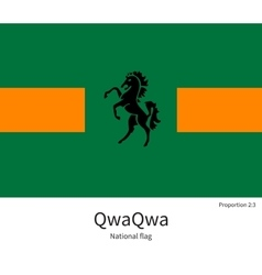 National flag of qwaqwa with correct proportions vector