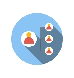 Business connect with leader man flat icon vector