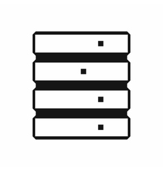 Database icon simple style vector