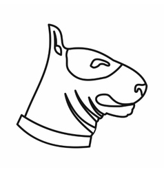 Bull terrier dog icon outline style vector