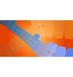 Square blue orange wave gradient geometrical vector