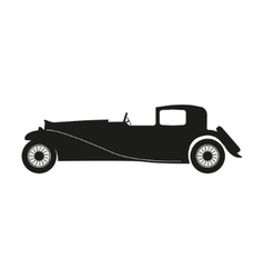 Black silhouette of a retro car vector image