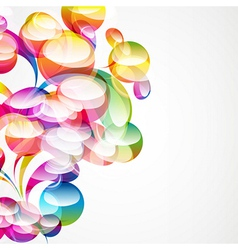 Abstract arc-drop background vector image vector image