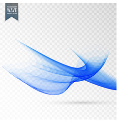 Abstract wave effect on transparent background vector