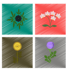 assembly flat shading style plant vector image vector image