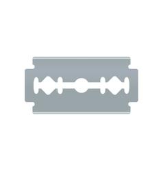 Blade razor object on white background vector image