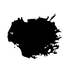 brush ink stain round grunge dirty element vector image